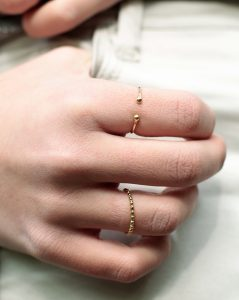 Anillo Double Dots Gold
