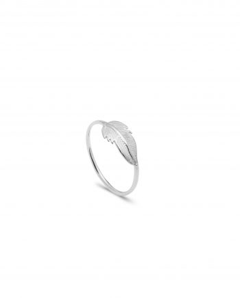 ANILLO FEATHER SILVER