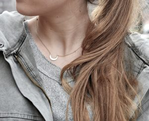 COLLAR BACKMOON SILVER