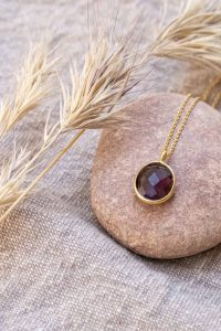 COLLAR OVAL AMATISTA ORO – DROP COLLECTION (2)