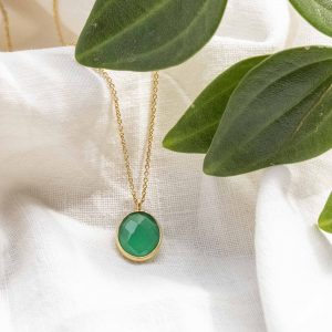 COLLAR OVAL ONIX VERDE ORO – DROP COLLECTION (1)