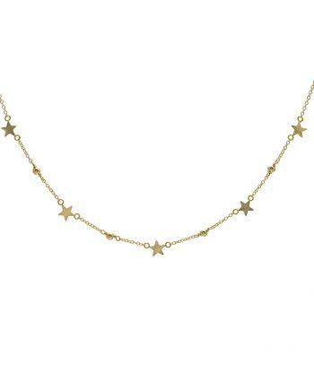 Gargantilla de plata stars dots gold